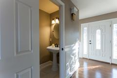Home Bathroom Entryway Interior - stock photo