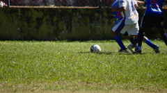 Soccer Players Fighting For The Ball On The Field  Stock Footage