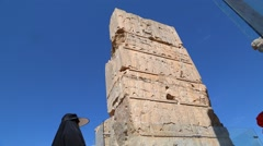 in iran persepolis the old ruins - stock footage
