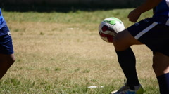 Freestyle football, Soccer game, athletes, Brazil, Games Stock Footage
