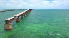 Overseas bridges and railroads in the Florida Keywss Stock Footage