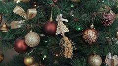 Christmas and New Year's toys on the Christmas Stock Footage