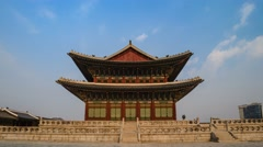 Timelapse at Gyeongbokgung Palace, Seoul, South Korea, 4K Time lapse Stock Footage