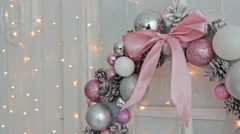 The Christmas Wreath - stock footage