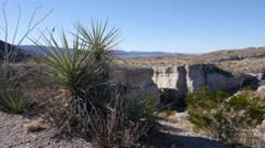 Texas Big Bend Tuff Canyon to Cerro Castellan pan Stock Footage