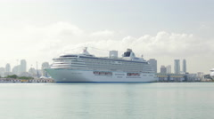 Cruise ship at port of Miami, Miami, Florida, USA Arkistovideo