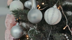 Christmas and New Year's toys on the Christmas - stock footage