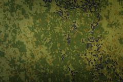 pixel camouflage fabric - stock photo