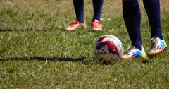 Freestyle football, Soccer game, athletes Stock Footage