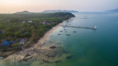 Aerial view of payam island ranong andaman sea southern of thailand Stock Photos