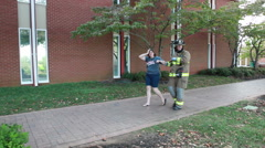 Rescue On College Campus After Terrorist Attack Stock Footage