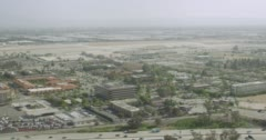WS AERIAL View of suburban area Stock Footage