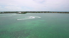 Waverunners in the Florida Keys Stock Footage