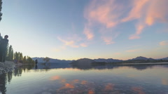 Sunset time laps at Lake Wanaka - stock footage