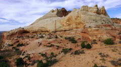 Rising view of desert terrain with drone Stock Footage