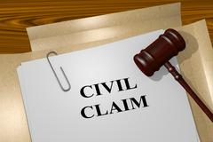 Civil Claim legal concept Stock Illustration