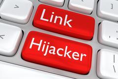 Link Hijacker concept - stock illustration