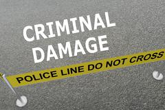 Criminal Damage concept Stock Illustration