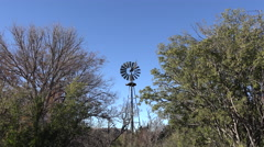 Texas Big Bend Zooms to windmill Stock Footage
