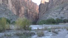Texas Big Bend Santa Elena Canyon and Rio Grande Stock Footage