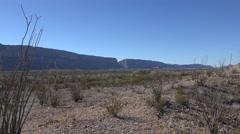 Texas Big Bend Santa Elena Canyon zoom to canyon view Stock Footage