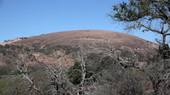 Texas Enchanted Rock view Stock Footage