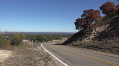 Texas Hill Country highway Stock Footage
