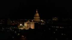 Texas Austin capitol at night - stock footage