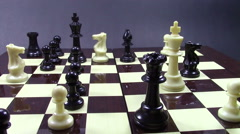 White king is checkmated Stock Footage