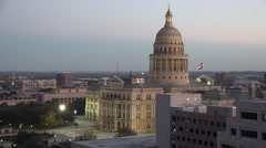 Texas Austin Capitol building in evening Stock Footage
