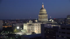 Texas Austin Capitol building with evening sky Stock Footage