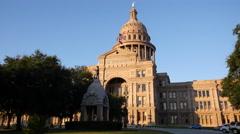 Texas Austin Capitol facade Stock Footage