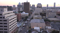 Texas Austin downtown street with cars Stock Footage
