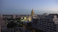 Texas Austin State House zoom in Stock Footage