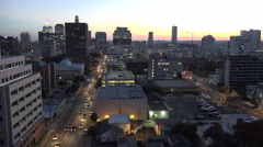 Texas Austin sunset traffic time lapse - stock footage
