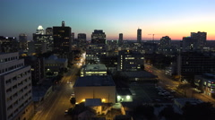 Texas Austin traffic on downtown street at sunset Stock Footage