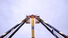 Fun Fair  huge scary fairground attraction - stock footage