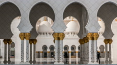 Sheikh Zayed Grand Mosque timelapse located in Abu Dhabi - capital city of Stock Footage