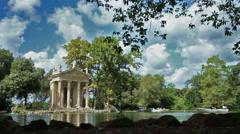 Villa borghese Pond Stock Footage