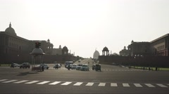 Delhi Parliament Sunset Timelapse 4K Stock Footage