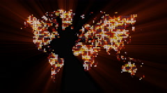 Loopable: Digital World Map / Technology Abstract Stock Footage