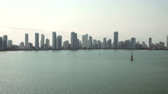 View of skyline and cityscape of Cartagena, Colombia Stock Footage