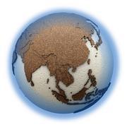 Southeast Asia on light Earth Stock Illustration