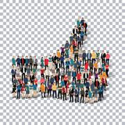 like people  Transparency 3d - stock illustration