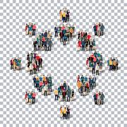 abstract business symbol people Transparency - stock illustration