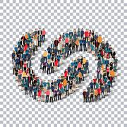 Abstract business symbol people Transparency Stock Illustration