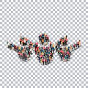 man symbol people 3d Transparency - stock illustration