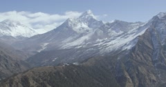 Snowcapped rock mountains Stock Footage