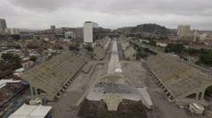 World's famous sambodromo in Rio de Janeiro Stock Footage