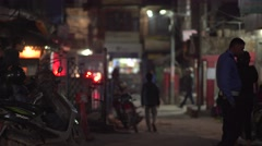 Nepal, Kathmandu Night Streets 4K Stock Footage